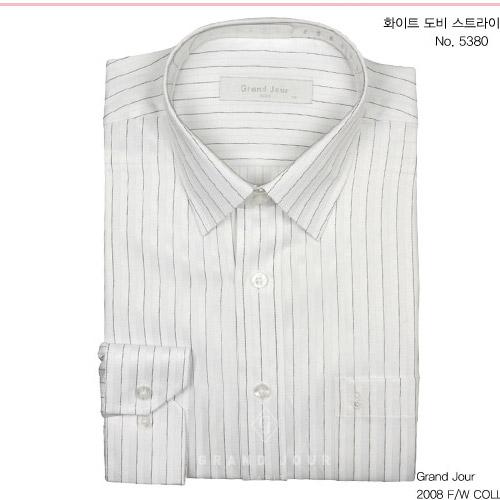 화이트 도비 스트라이프셔츠 제품사진