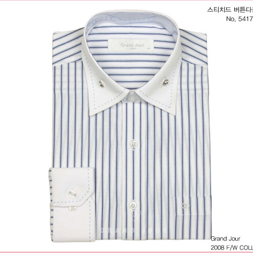 그랑주르 스티치드 버튼다운 셔츠 제품사진