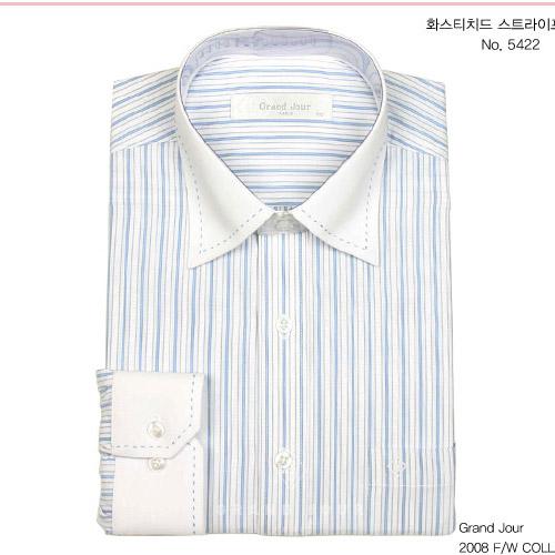 그랑주르 스티치드 스트라이프 셔츠 제품 사진