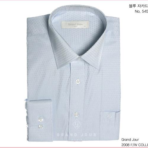 그랑주르 블루 자카드 셔츠 제품 사진